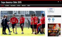 Sitio Web Copa América Chile 2015 + FB + TW